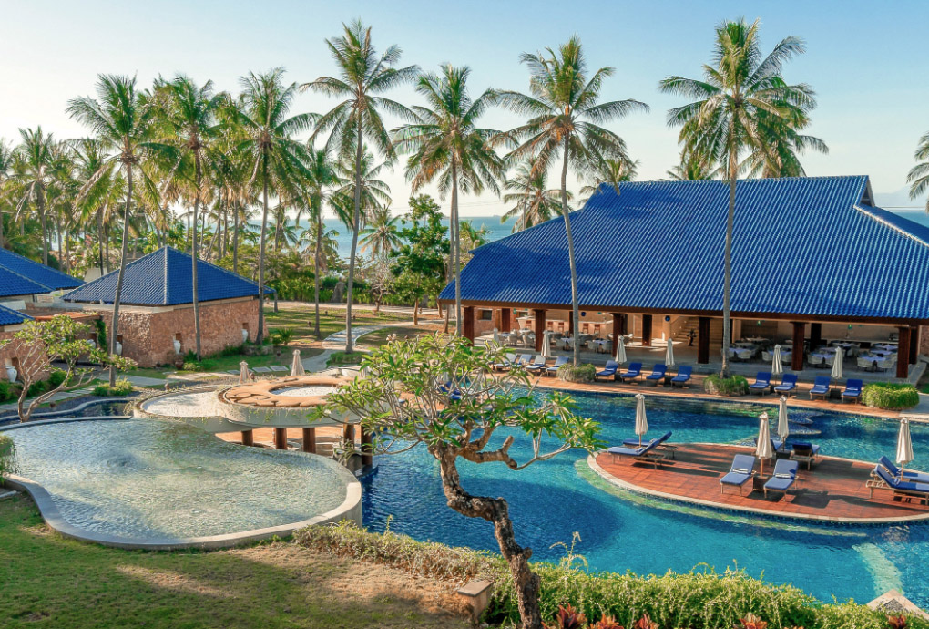 The Resort development includes the Largest Resort Swimming Pool in Lombok, Luxury Spa, Beach Club and 3 Gourmet Restaurants